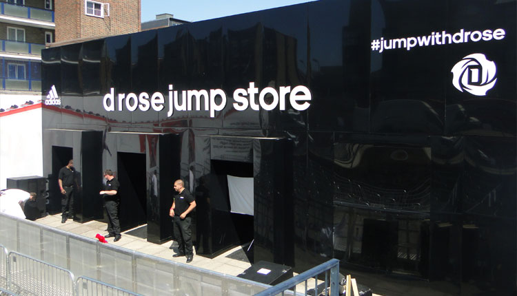 experiential roadshow for addidas event set services